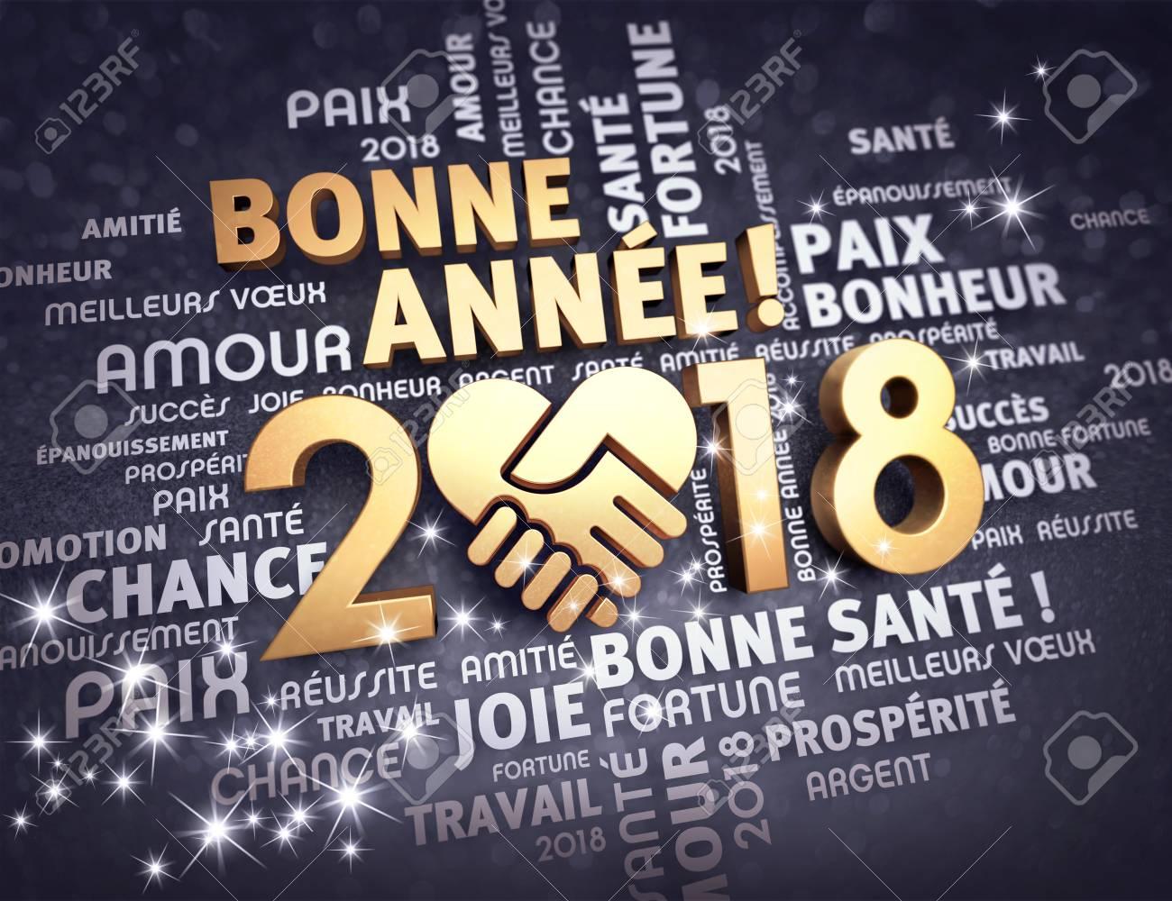 Neues Jahr-Datum 2018, Verfasst Mit Einem Goldenen Herzen, Die ...