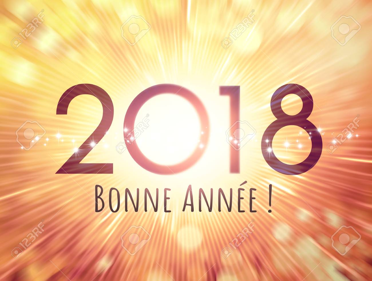 New year date 2018 and greetings in french language on a shiny new year date 2018 and greetings in french language on a shiny glittering background stock m4hsunfo