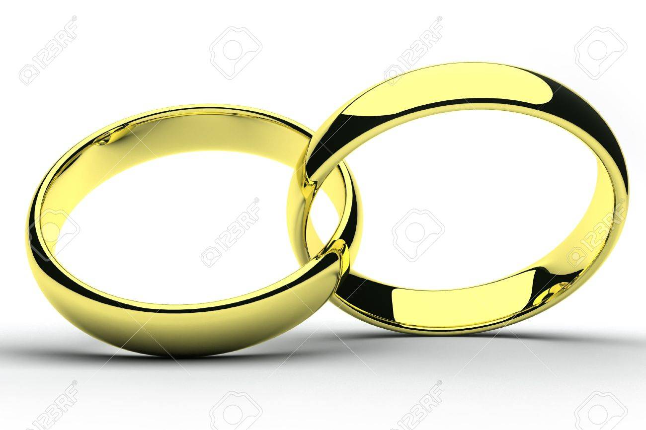 isolated gold wedding rings Stock Photo - 13005824