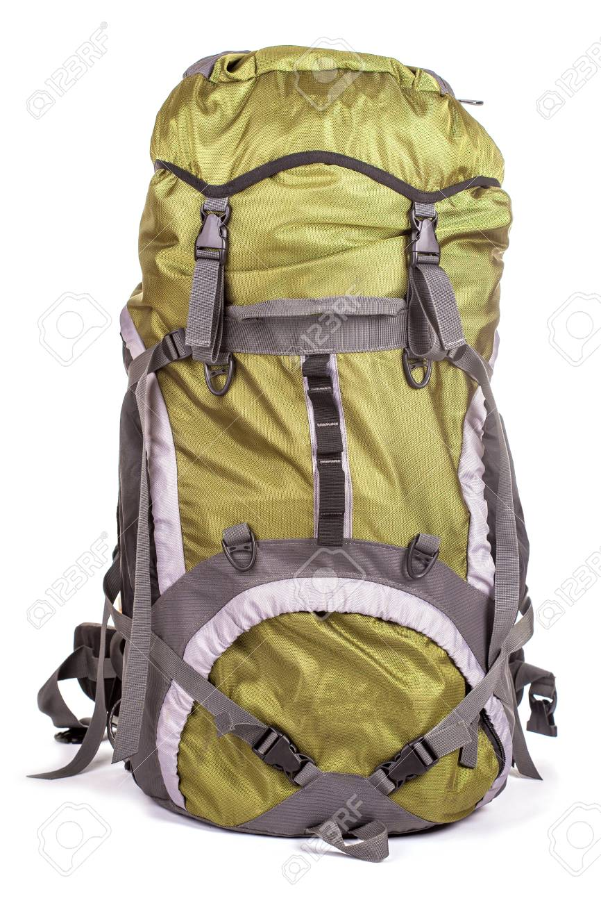 Tourist backpack on white background Stock Photo - 26577701 a03b56f381add