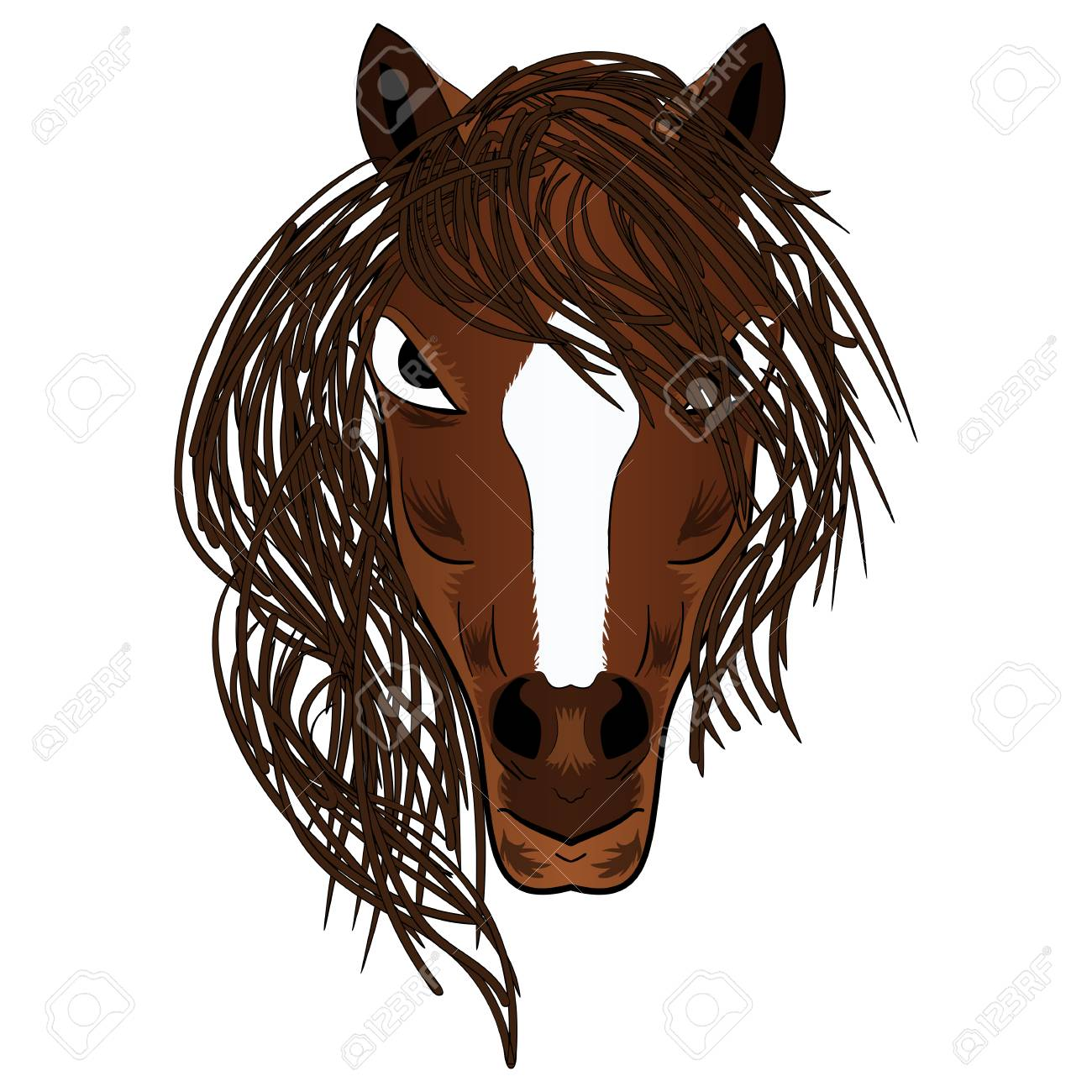 EPS Illustration - Profile of horse with flowing mane, sketch style. Vector  Clipart gg85137525 - GoGraph