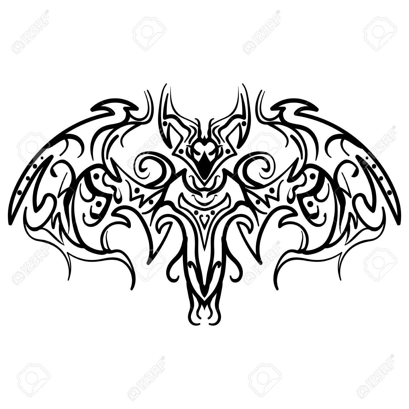 a84d196a0 The stylized image of a doodle bat. Vector stylized of ink sketch doodle bat .