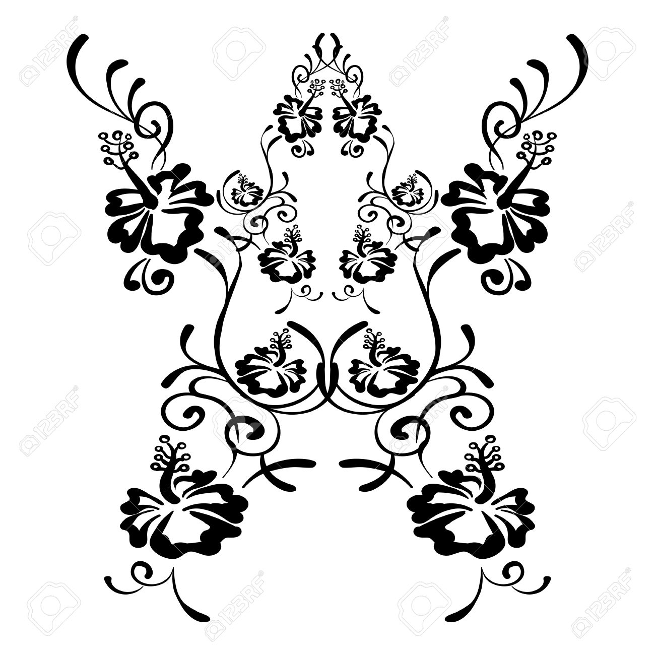 Hibiscus flowers drawing and sketch with line art tattoo sketch hibiscus flowers drawing and sketch with line art tattoo sketch hibiscus on white background izmirmasajfo