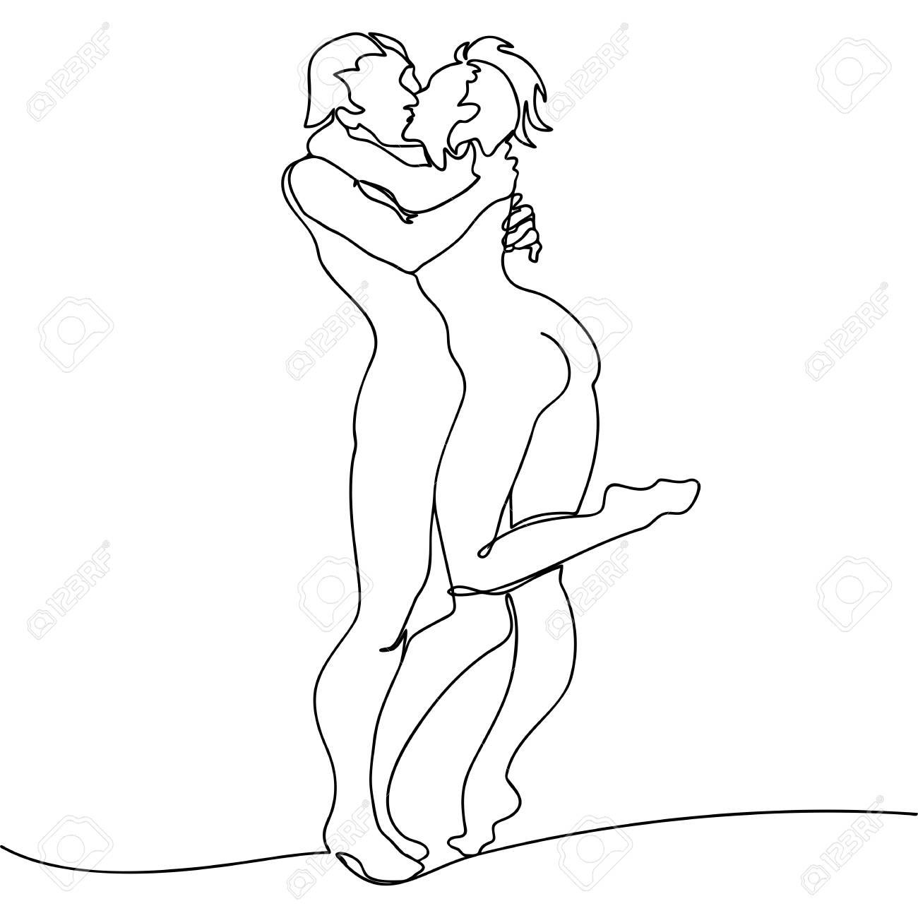 Zeichnen liebespaar Akt Bilder
