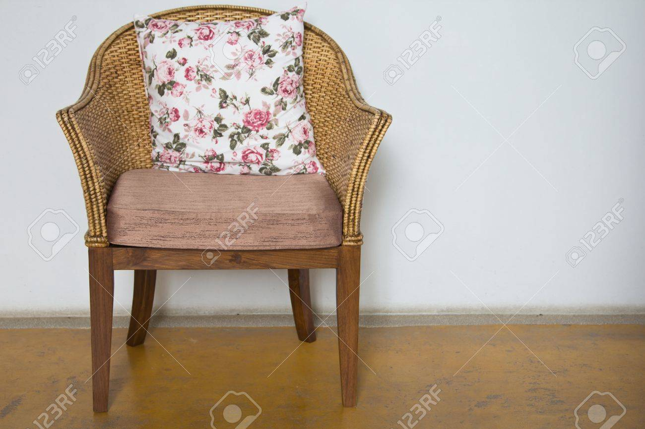 Wicker chairs are placed in the living room. Stock Photo - 16930170