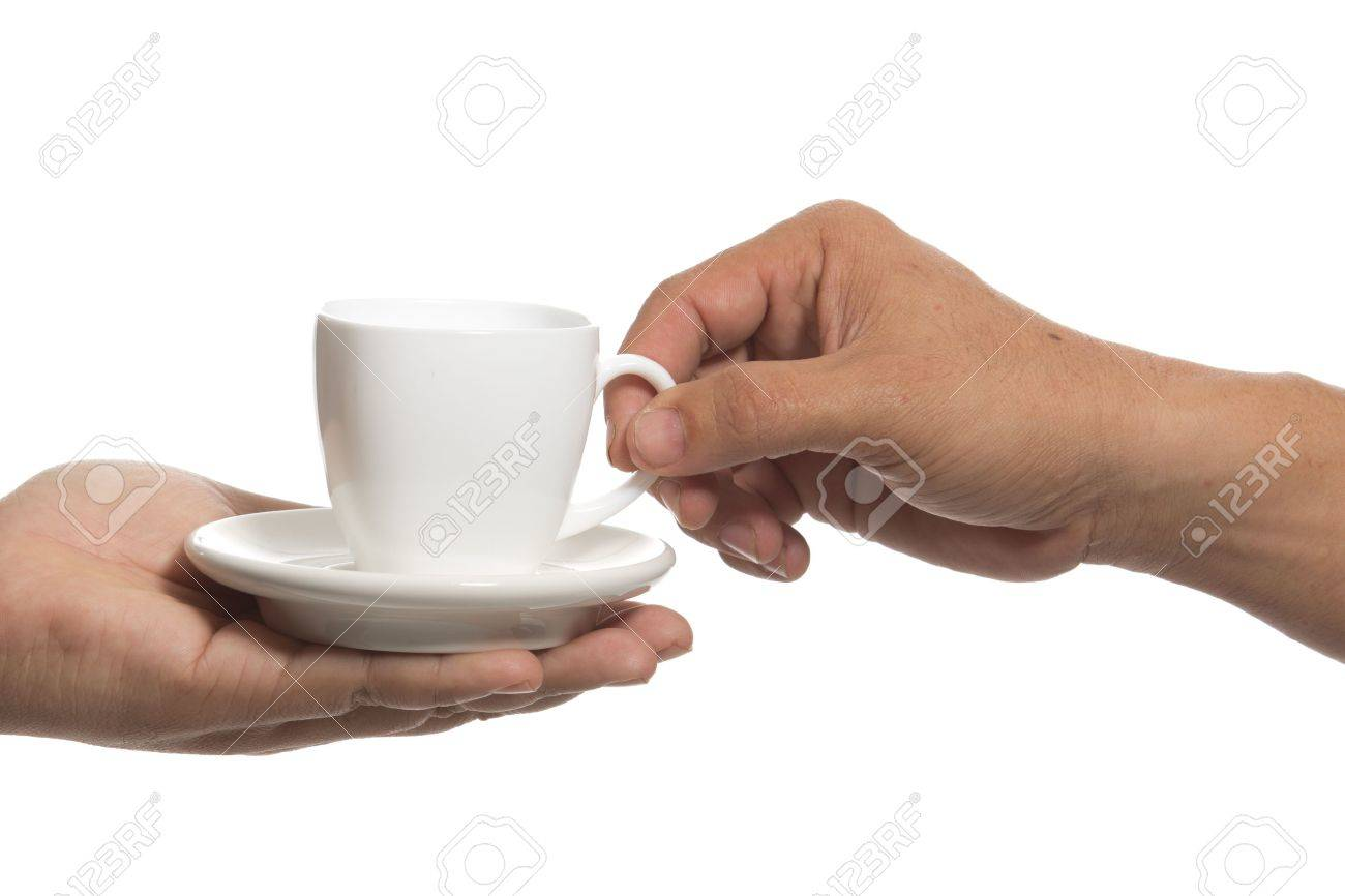 Grab a cup of coffee on the other hand. Stock Photo - 17710322