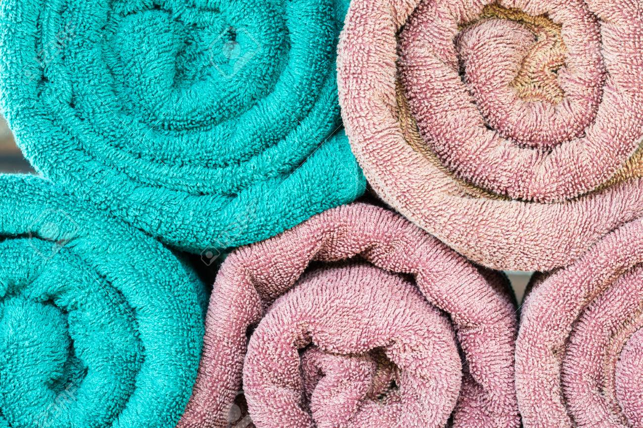 Swimming Pool Towels Texture, Background Stock Photo, Picture And ...