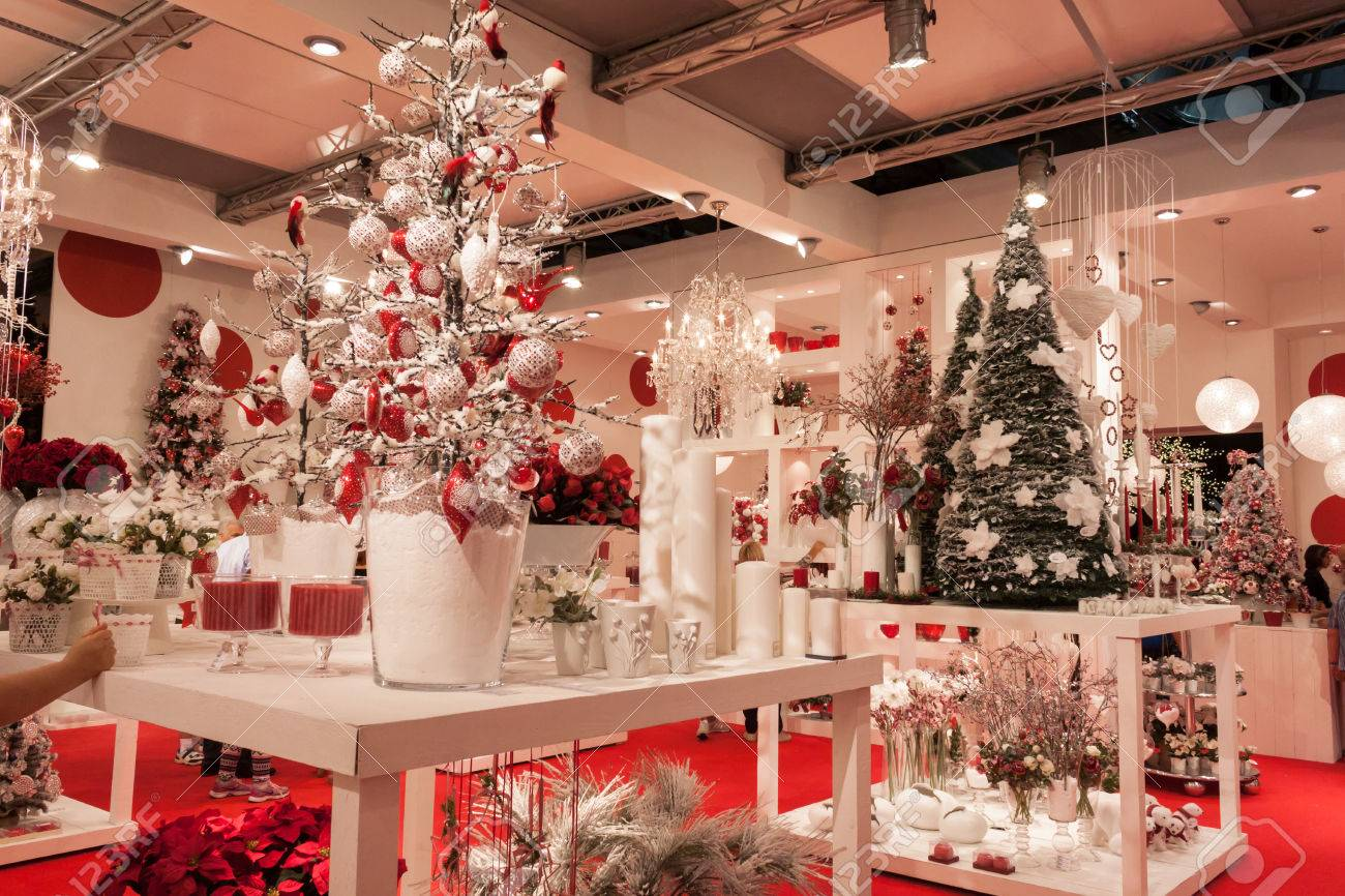 Milan Italy September 12 Christmas Decorations At Macef