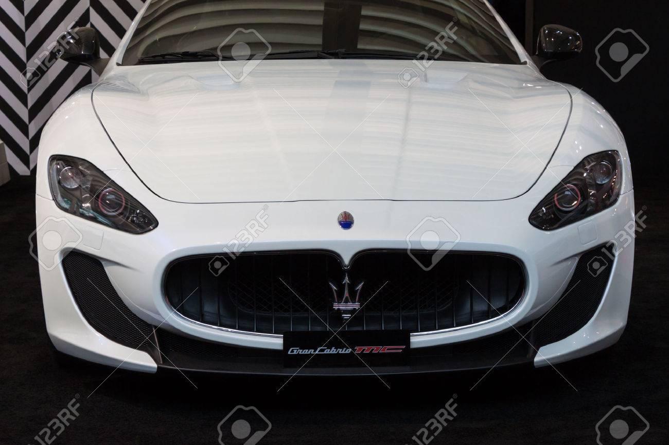 milan italy october 3 detail of maserati fancy car at made expo international