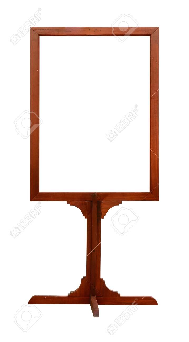Blank Holz Plakatwand Auf Weißem Hintergrund Lizenzfreie Fotos
