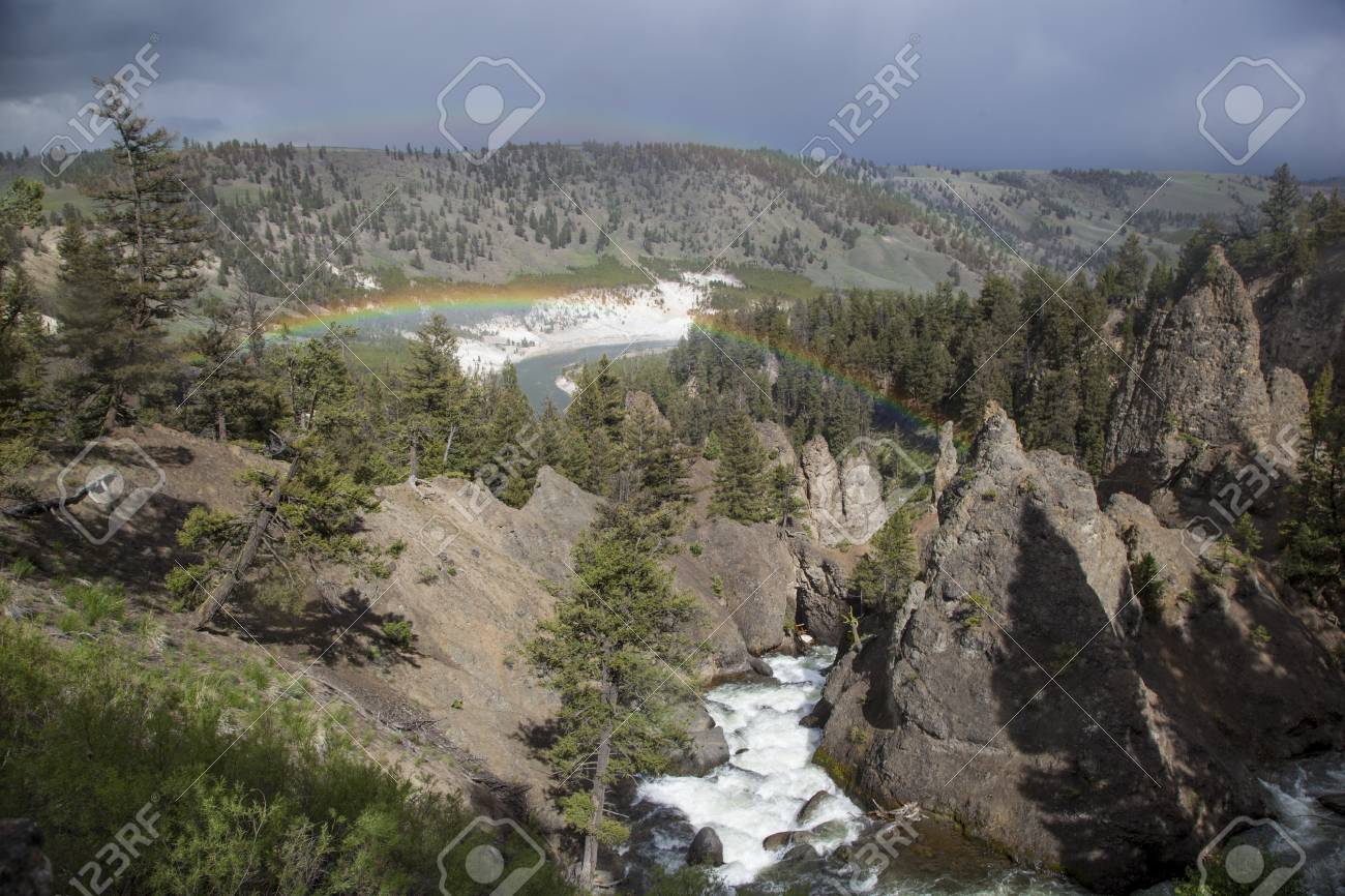 Yellowstone River In Tower Roosevelt Area Yellowstone National Stock Photo Picture And Royalty Free Image Image 25681189