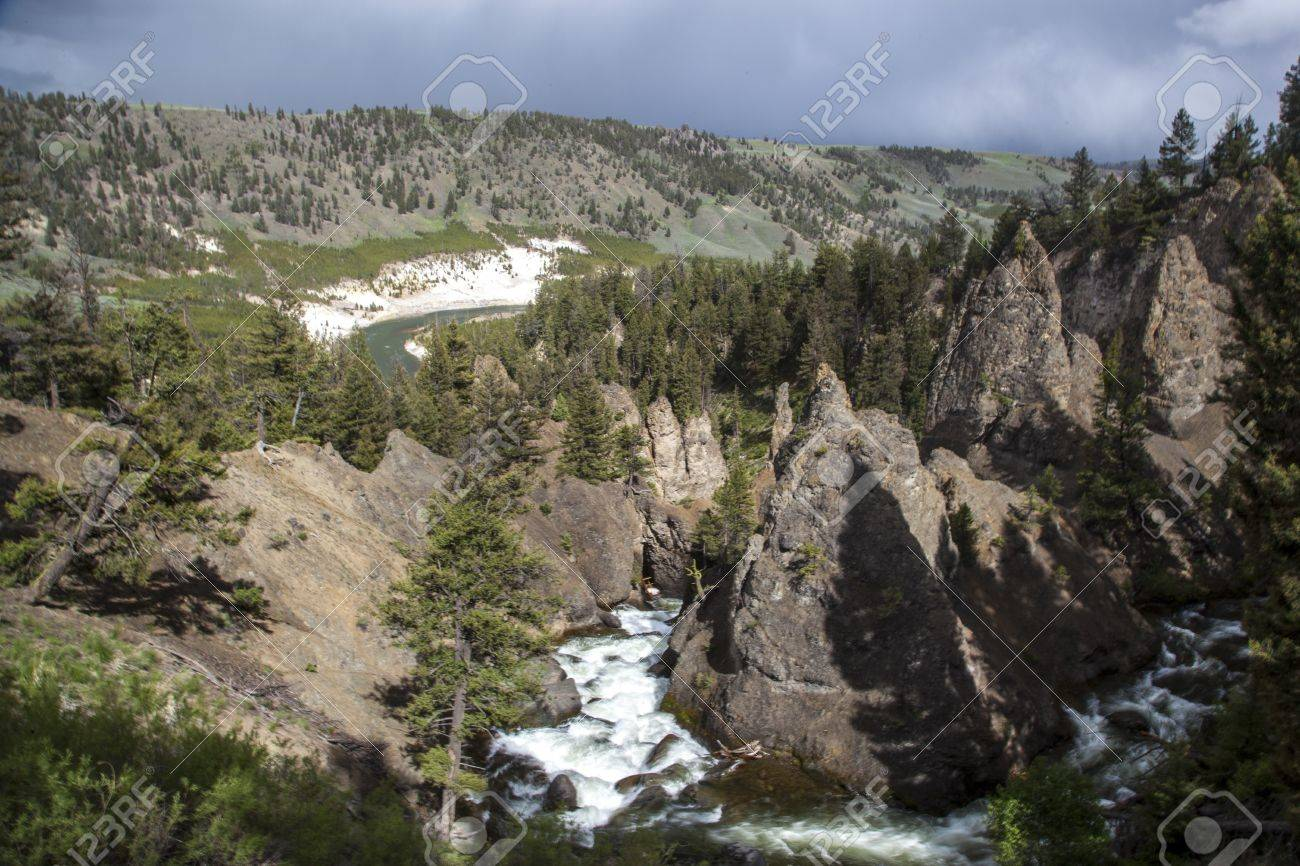 Yellowstone River In Tower Roosevelt Area Yellowstone National Stock Photo Picture And Royalty Free Image Image 25681190