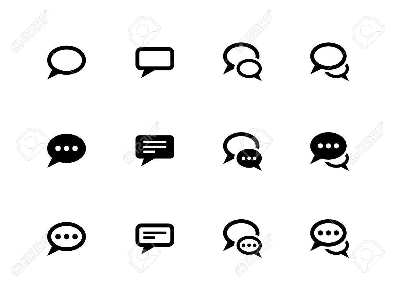 Speech bubble icons on white background. Vector illustration. Stock Vector - 21594399