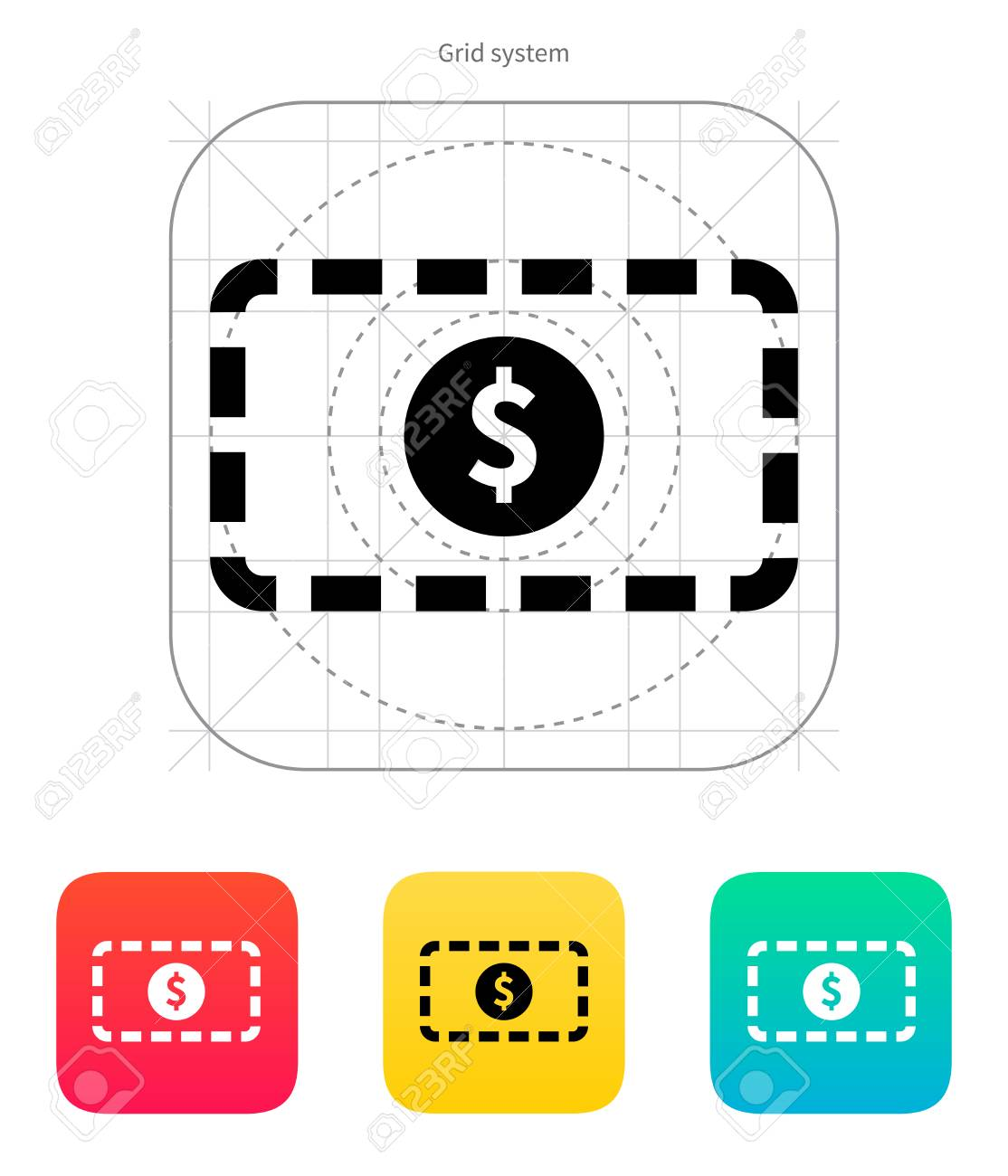 Banknote icon. Vector illustration. Stock Vector - 22784538