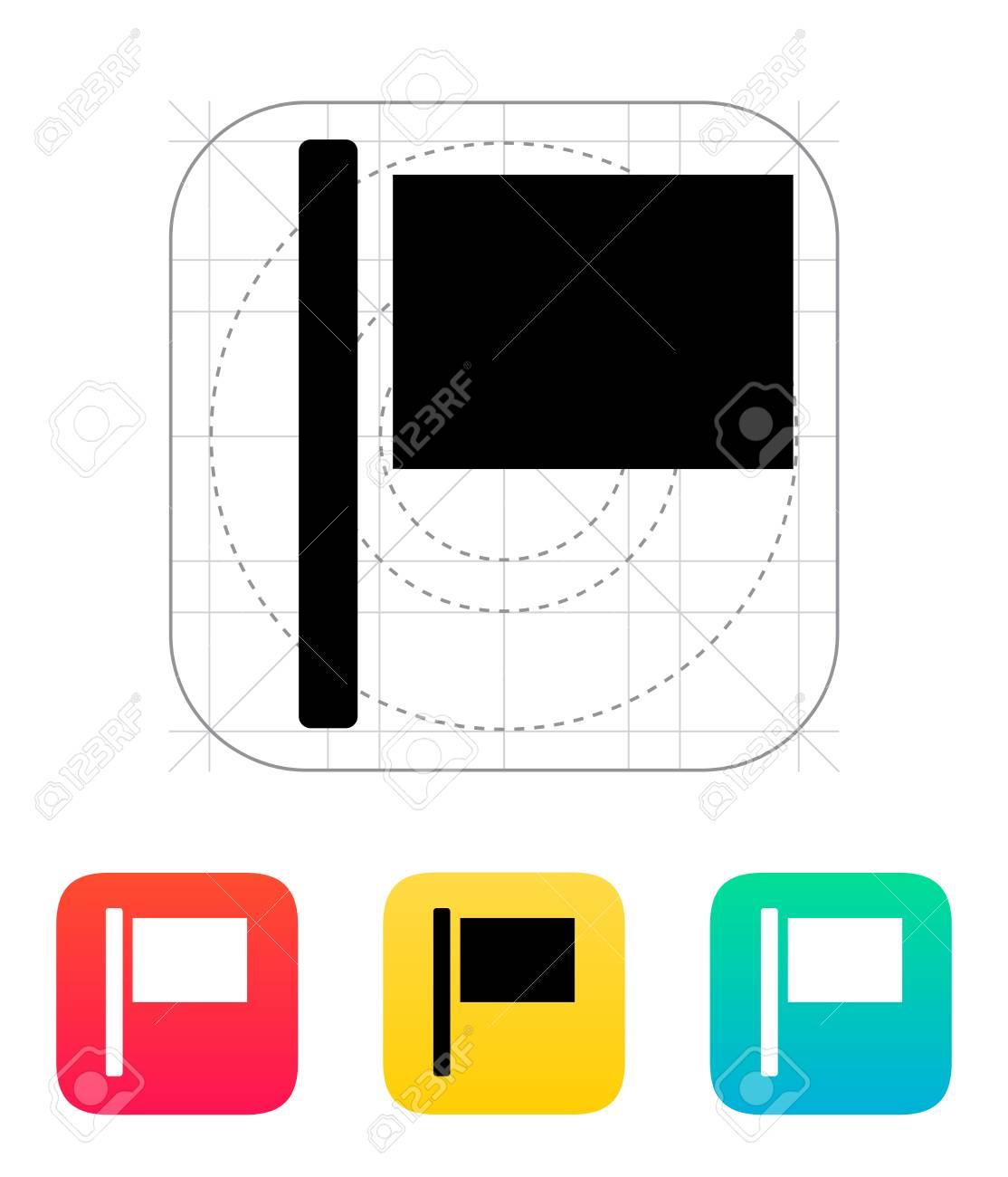 Flag icon. Vector illustration. Stock Vector - 22784708