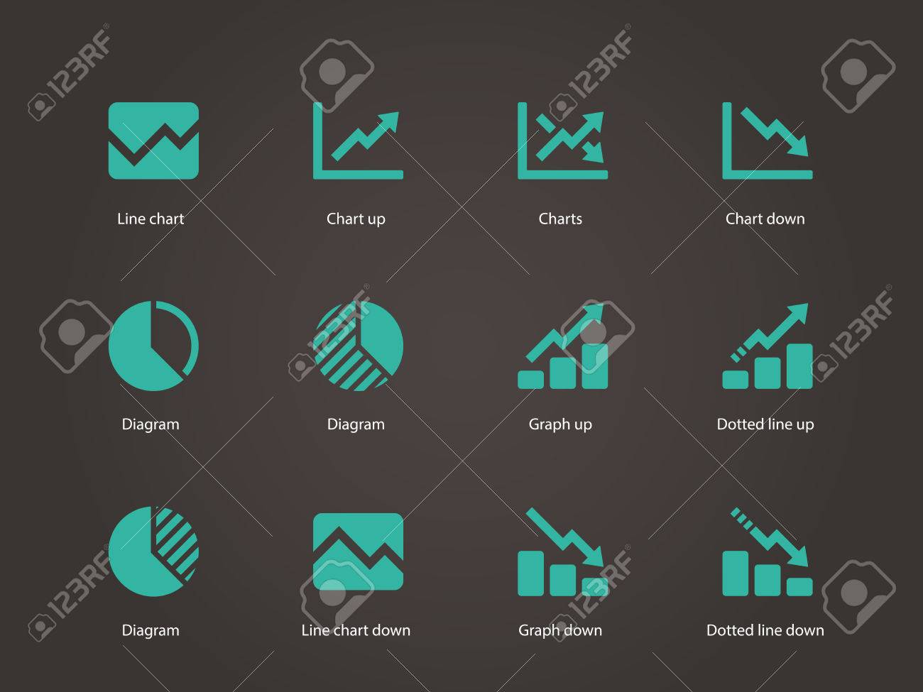 Line chart and diagram icons vector illustration royalty free line chart and diagram icons vector illustration stock vector 23790658 geenschuldenfo Gallery