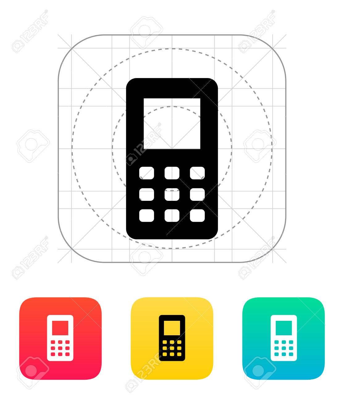 携帯電話画面のアイコンのイラスト。 ロイヤリティフリークリップアート