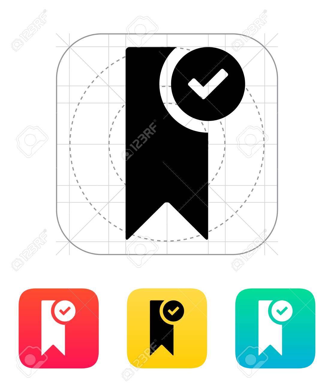 Check bookmark icon. Vector illustration. Stock Vector - 25211350