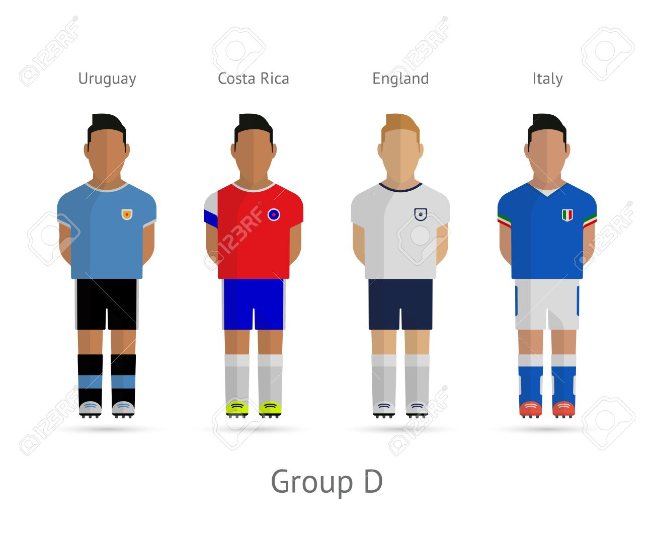 a6caafaee53 Soccer   Football Team Players. 2014 World Cup Group D - Uruguay ...