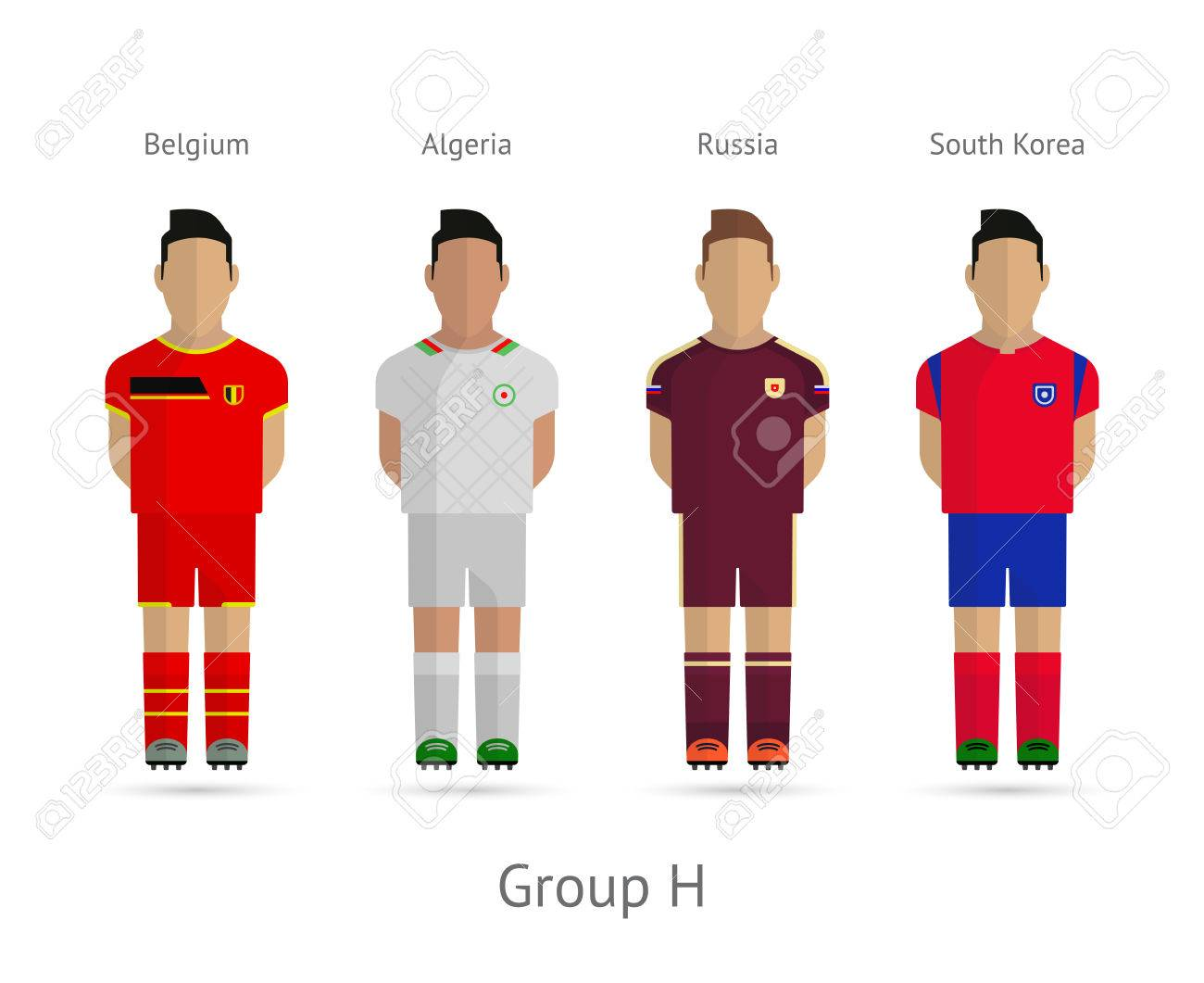 quality design f09cc 725fc Soccer / Football team players. 2014 World Cup Group H - Belgium,..