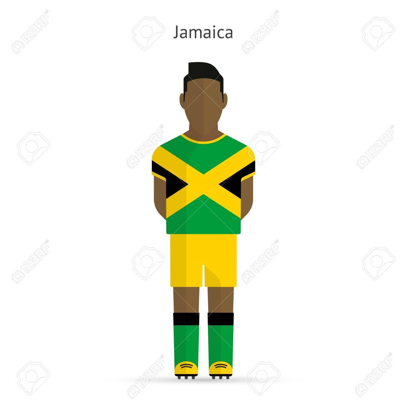 a0b419d69e12d Foto de archivo - Jugador de fútbol de Jamaica. Uniforme de fútbol. la  ilustración.