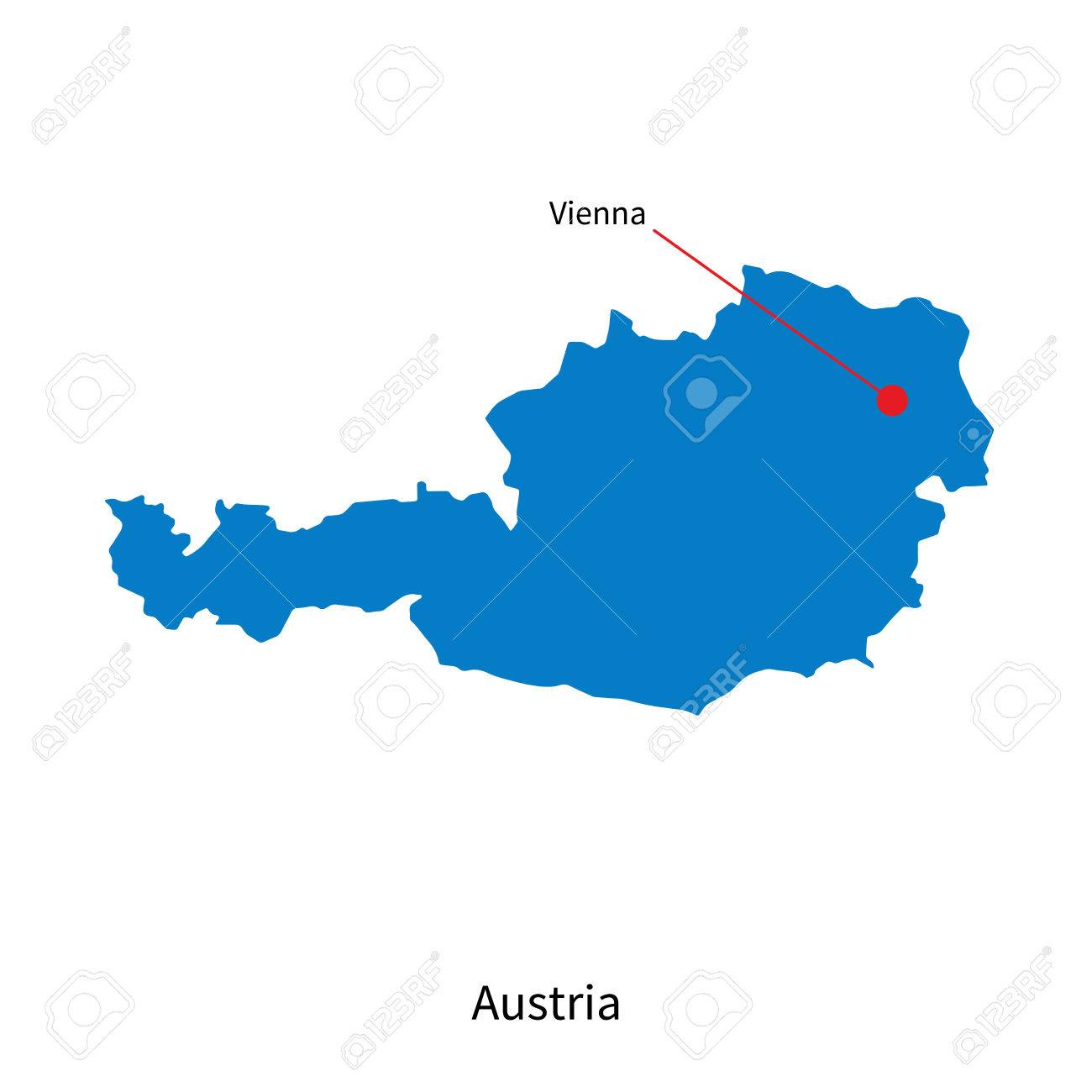Detailed vector map of austria and capital city vienna royalty detailed vector map of austria and capital city vienna stock vector 31046632 gumiabroncs Gallery