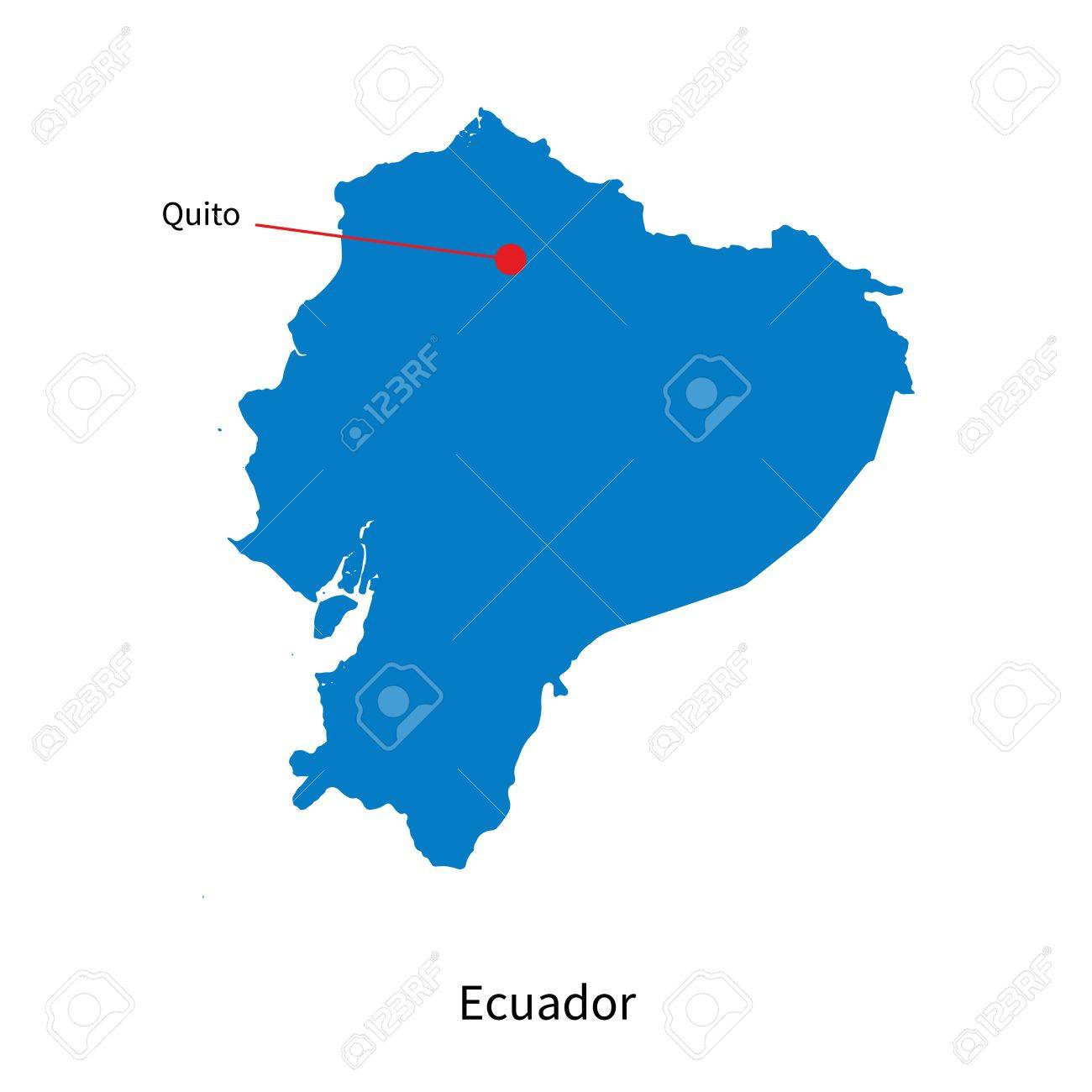 Ecuador Vector Map Detailed Vector Map of Ecuador