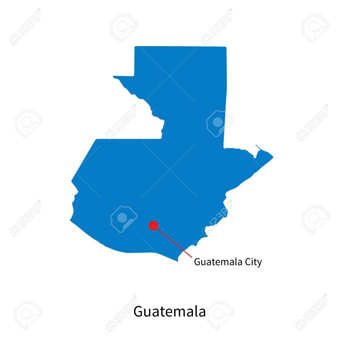 Picture of: Detailed Map Of Guatemala And Capital City Guatemala City Royalty Free Cliparts Vectors And Stock Illustration Image 31103016