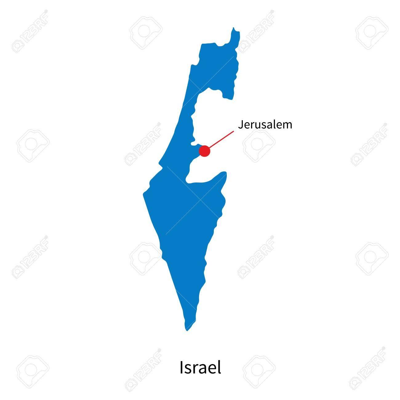 Jerusalem Karte Deutsch.Detailed Map Of Israel And Capital City Jerusalem