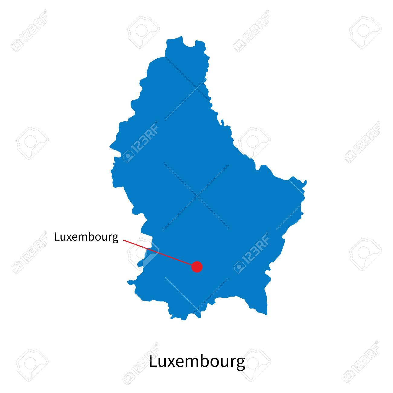 Detailed Map Of Luxembourg And Capital City Luxembourg Royalty - Luxembourg map