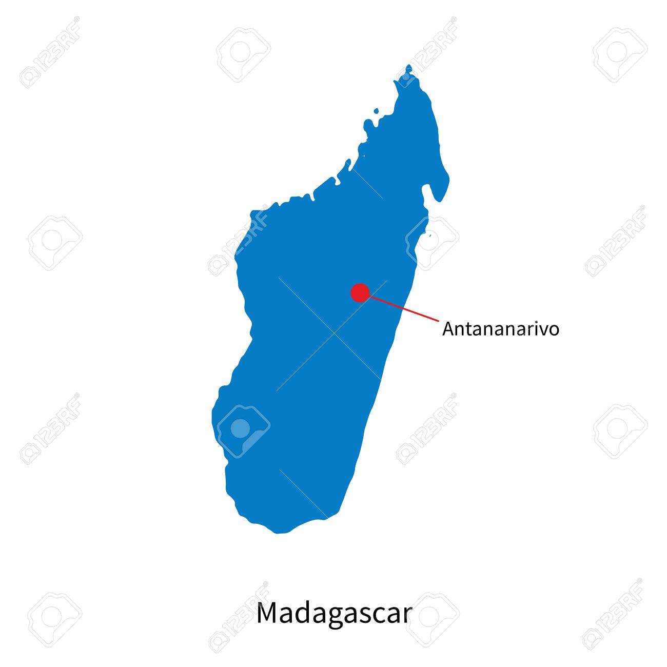 Antananarivo Madagascar Carte.Carte Detaillee De Madagascar Et La Capitale Antananarivo