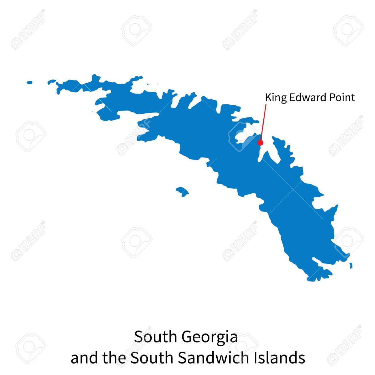 Mapa Detallado De Georgia Del Sur E Islas Sandwich Del Sur Y La - Mapa de georgia