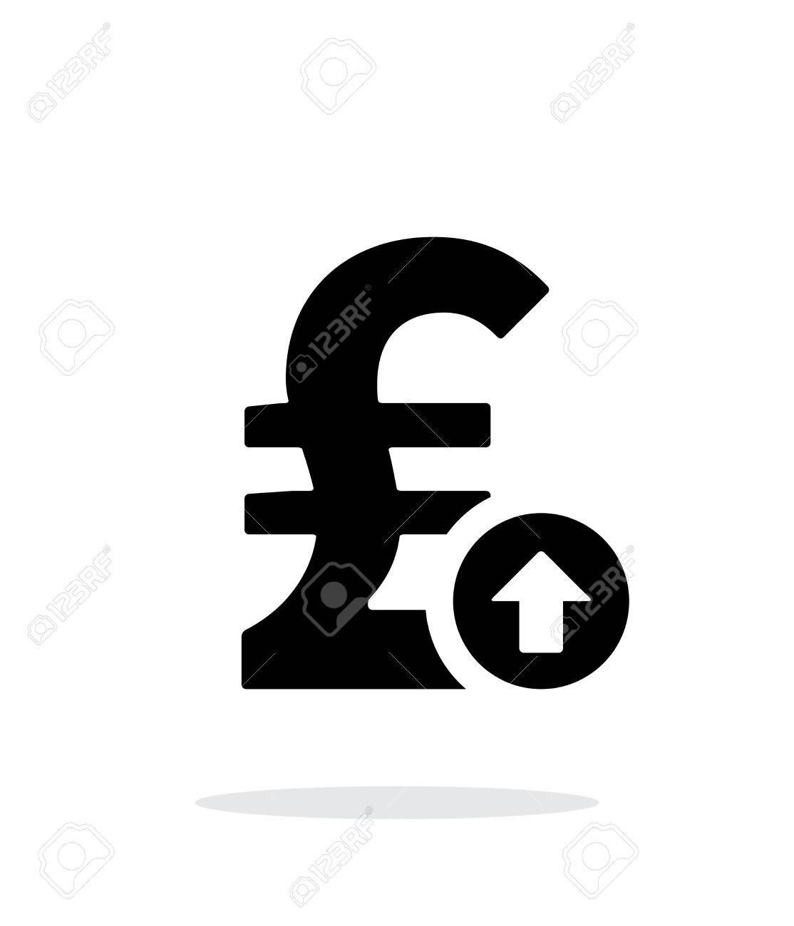 Pfund Sterling Wechselkurs Bis Symbol Auf Weißem Hintergrund ...