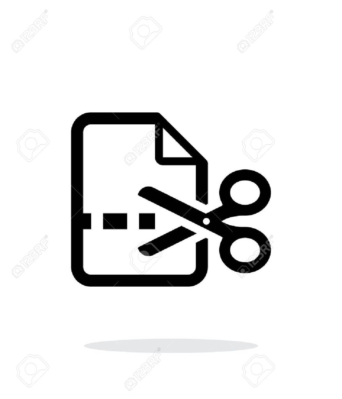 Cut file icon on white background