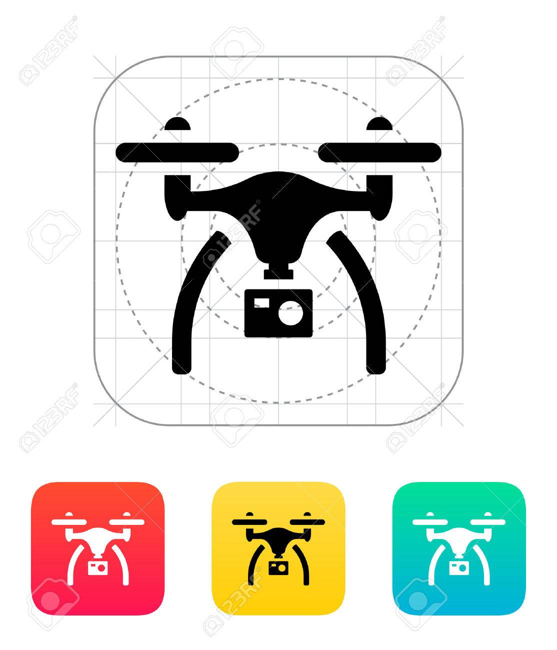 Drone With Camera Icon Stock Vector