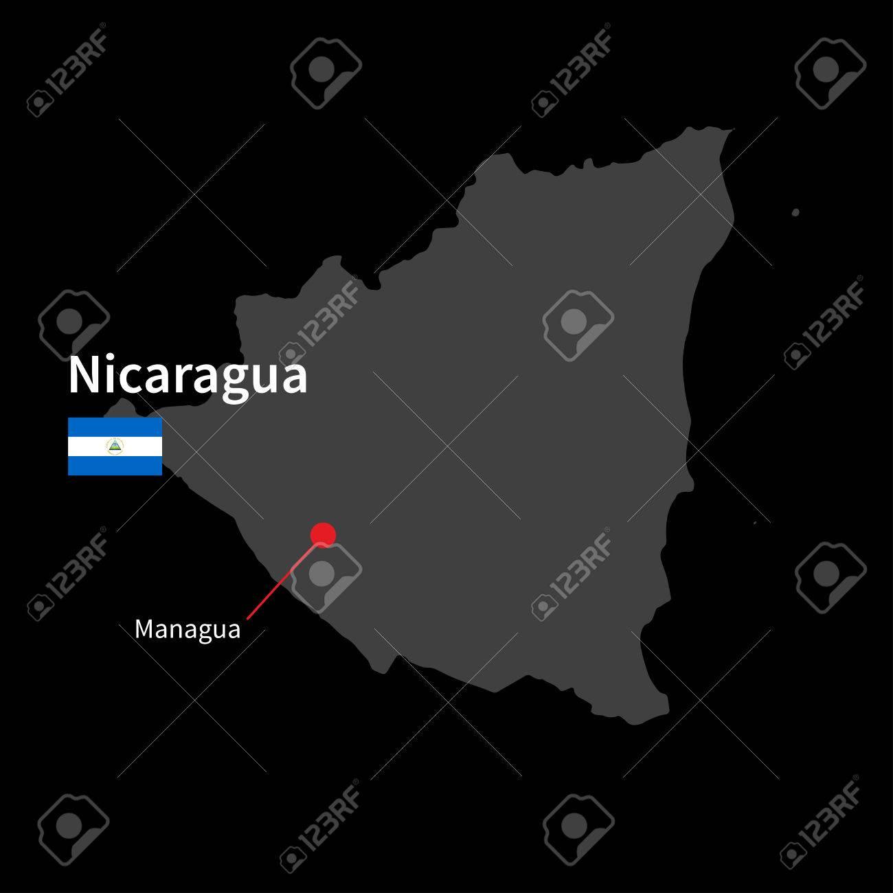 Nicaragua Capital Map Detailed Map of Nicaragua And