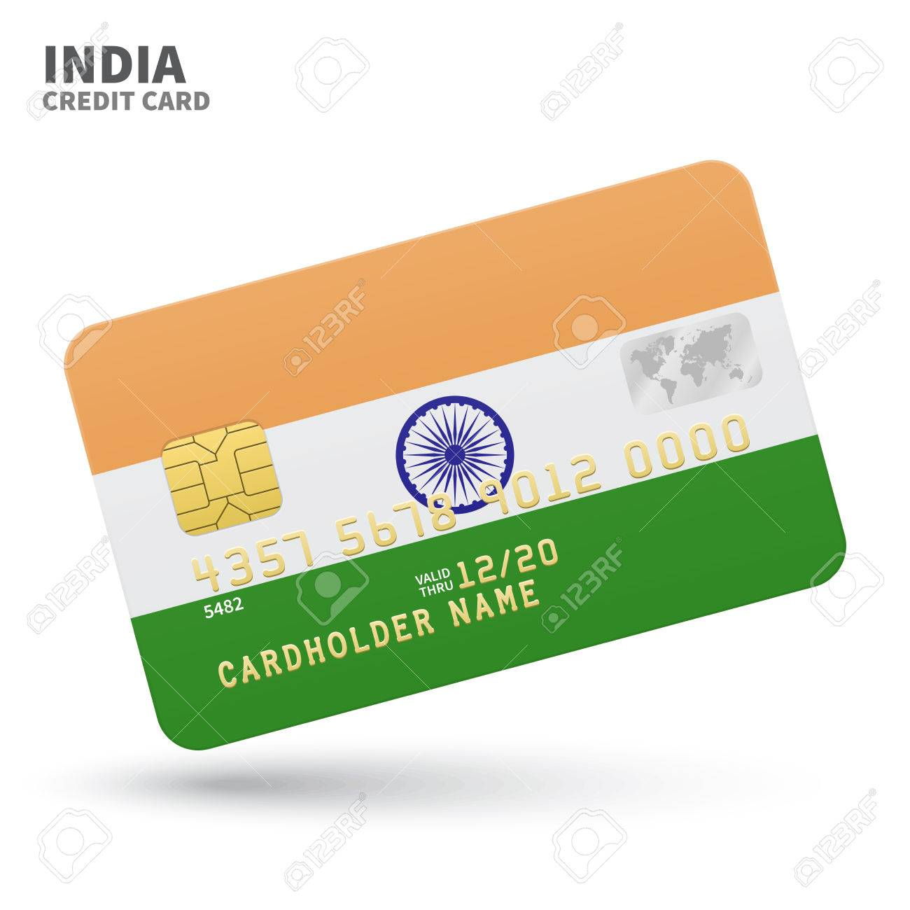 Business card bank choice image free business cards credit card with india flag background for bank presentations credit card with india flag background for magicingreecefo Images