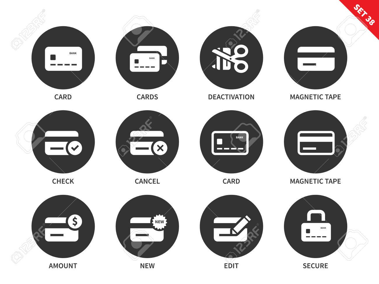 Credit card vector icons set business and finance concept commerce credit card vector icons set business and finance concept commerce and consumerism items reheart Images