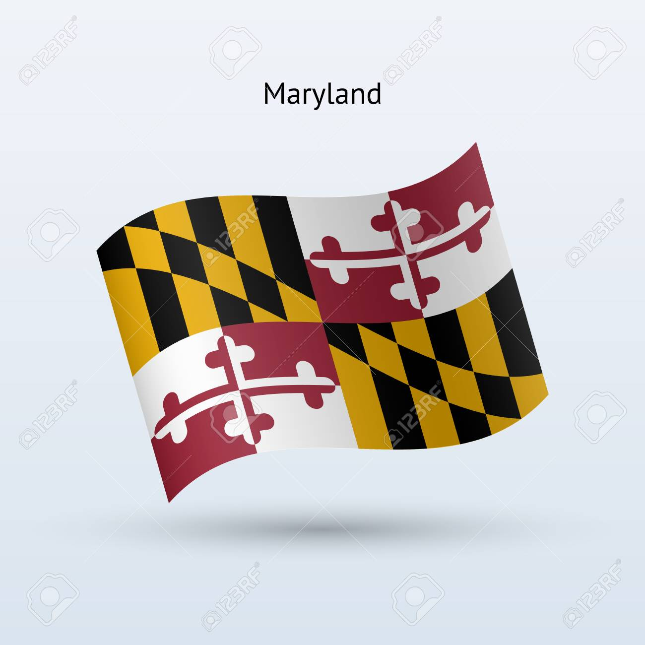 state of maryland flag waving form vector illustration royalty rh 123rf com waving maryland flag vector maryland flag vector free download