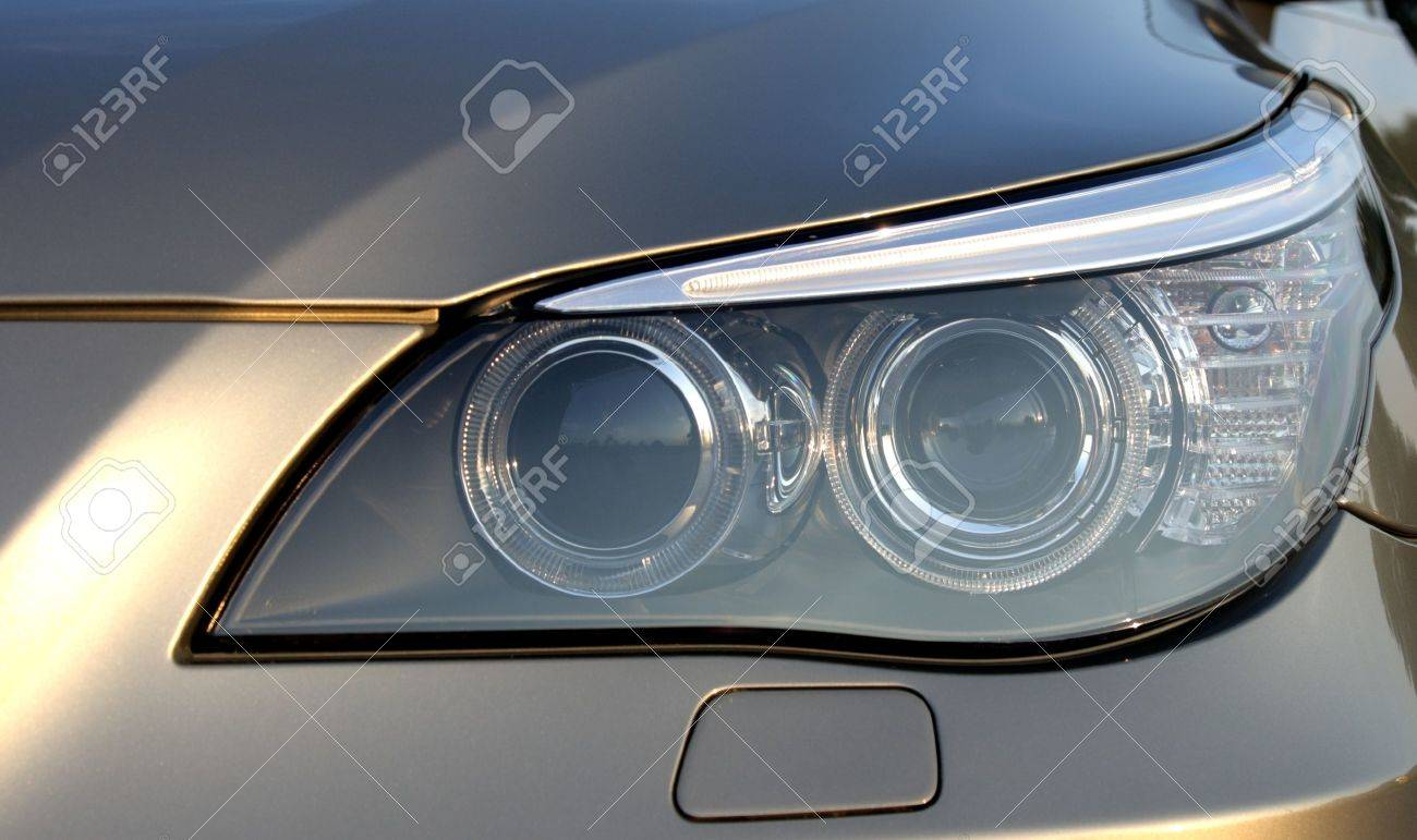 Headlight of the car of the BMW of the fifth series Stock Photo - 16017463