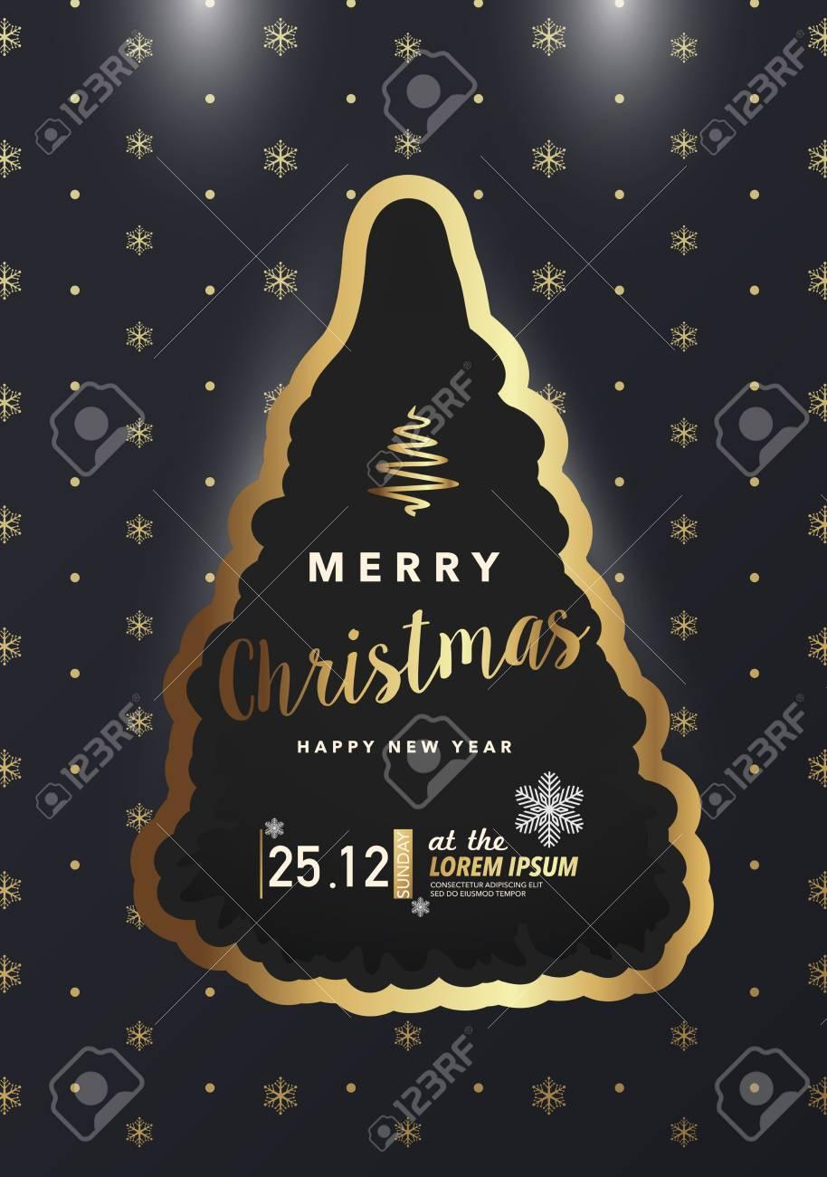 Tarjeta De Invitación Para Feliz Navidad Y Feliz Año Nuevo