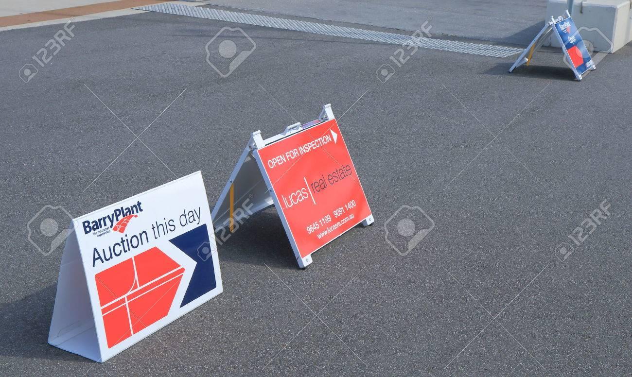 MELBOURNE AUSTRALIA - MARCH 29,2014 Real Estate sale sign - 27061806