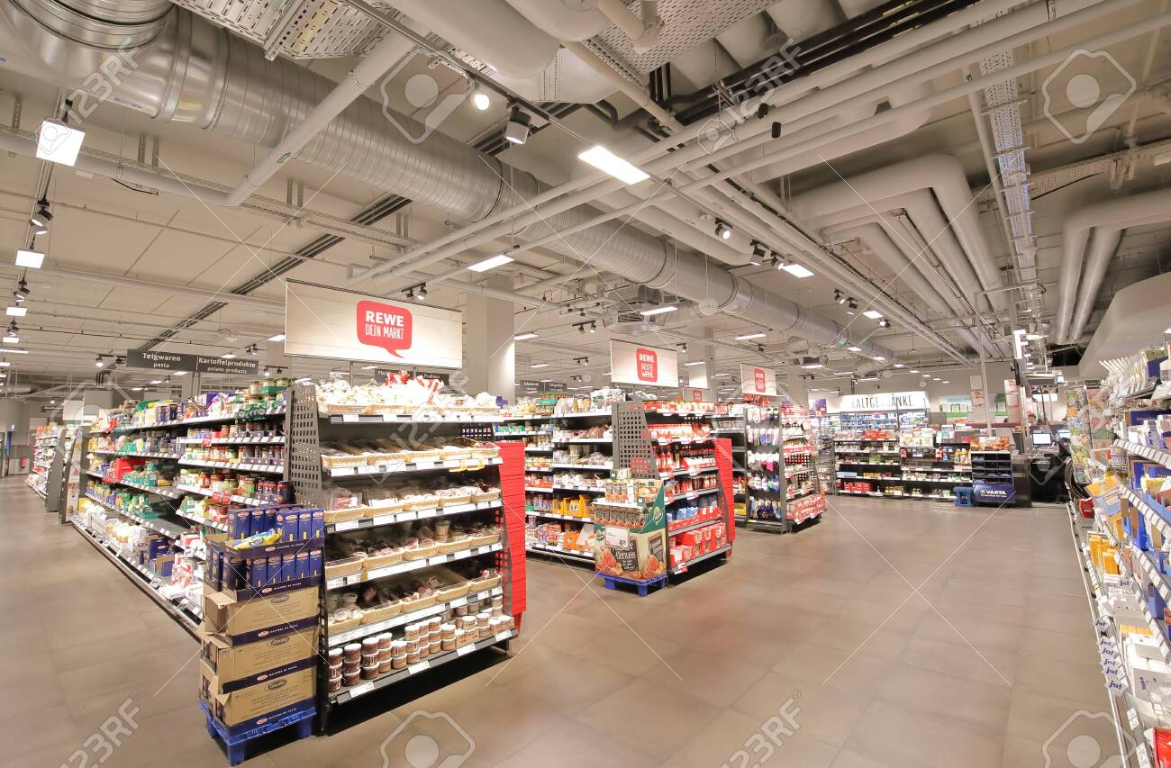 Berlin Germany - June 11, 2019: REWE supermarket in Berlin Germany - 130522200