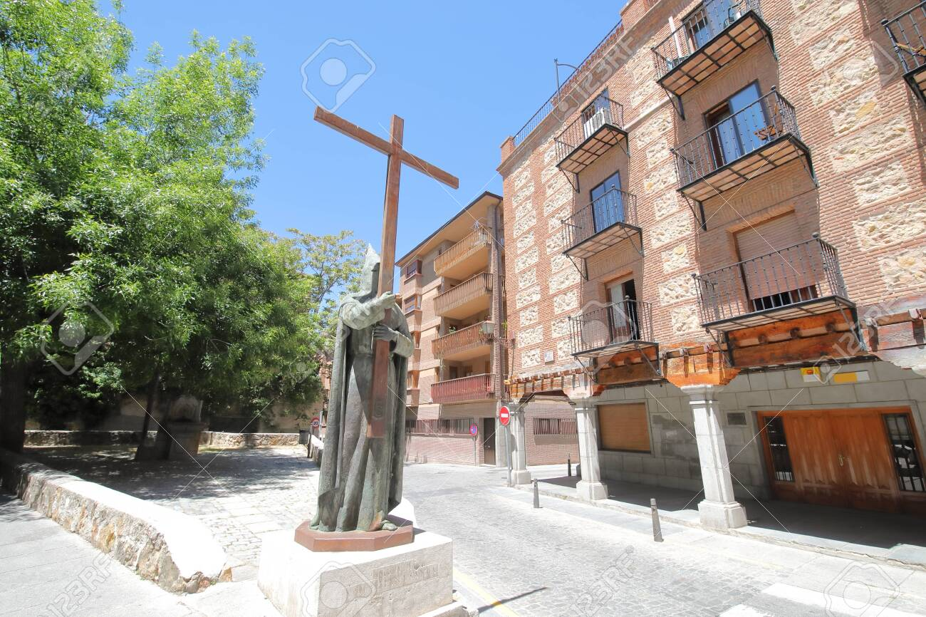 Old town Segovia cityscape Spain - 131432064