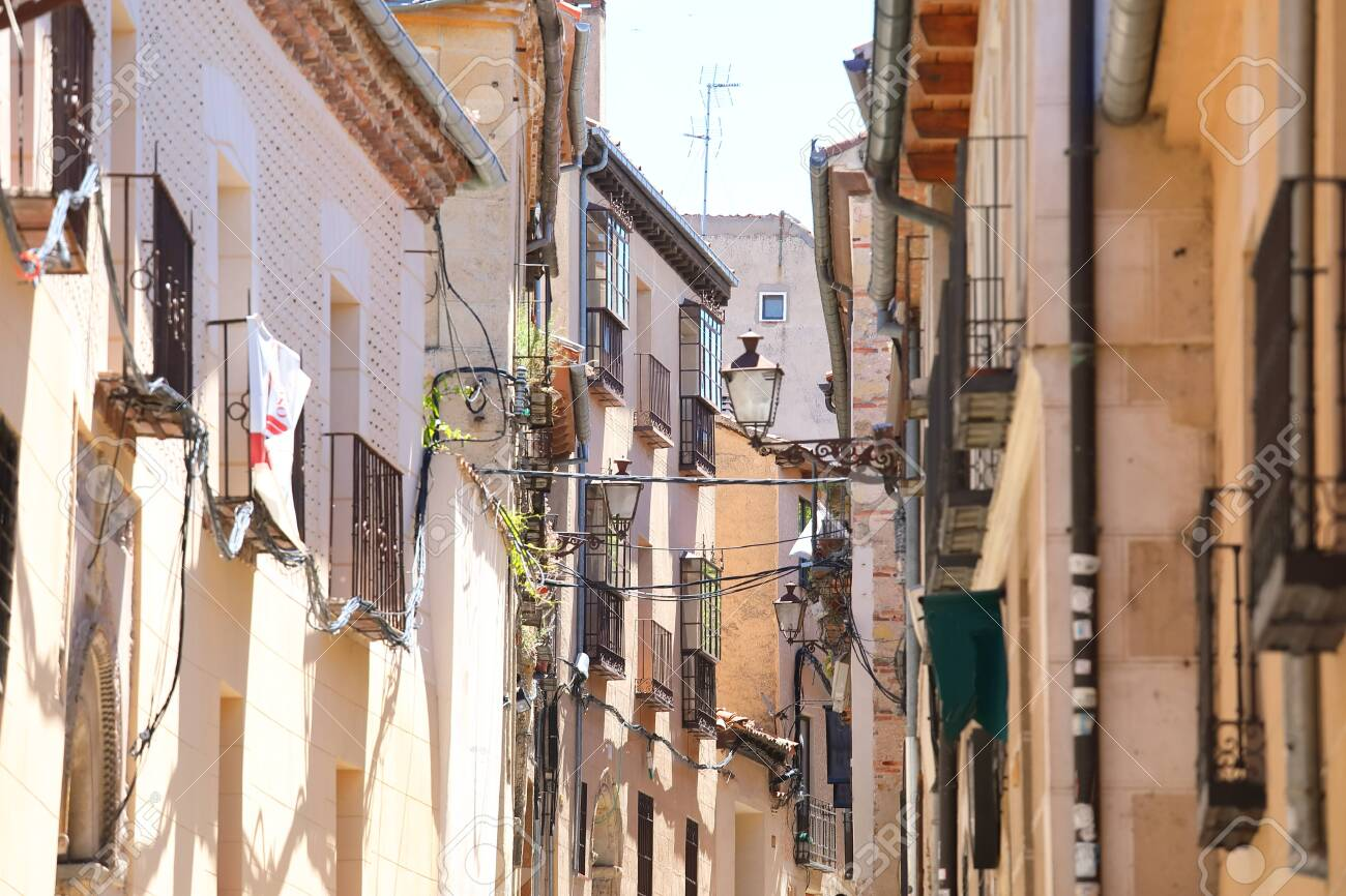 Old town alleyway cityscape Segovia Spain - 131432239