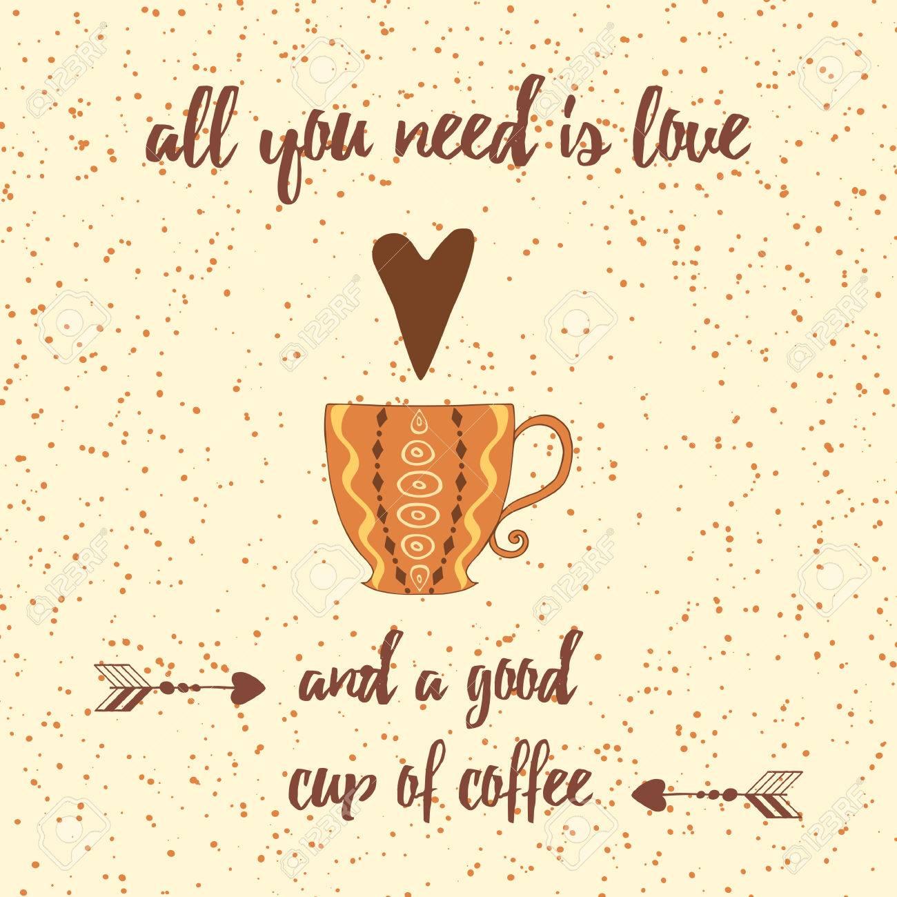 Tazas De Café, Corazón, Refranes Positivos Y Cotización. Allyou Nee ...