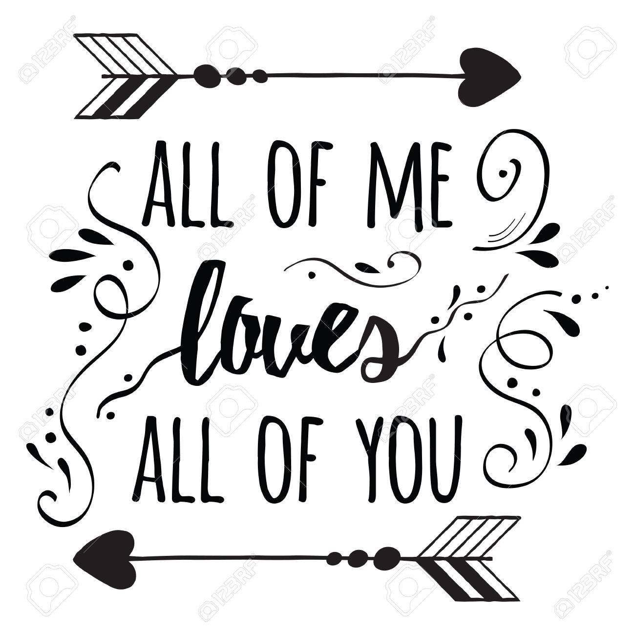 Family Quote Hand Lettering Typography Romantic Poster Abour Loveromantic