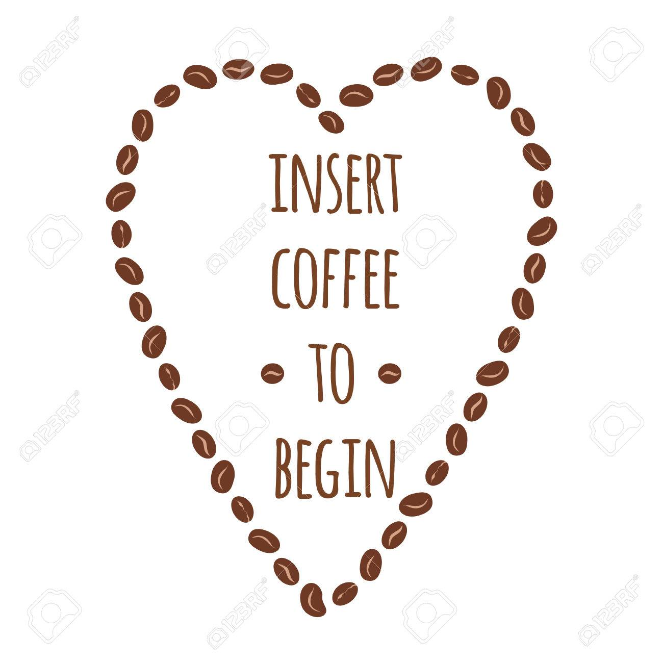 Cafe Isert Para Comecar Bandeira Tipografica Com Frase