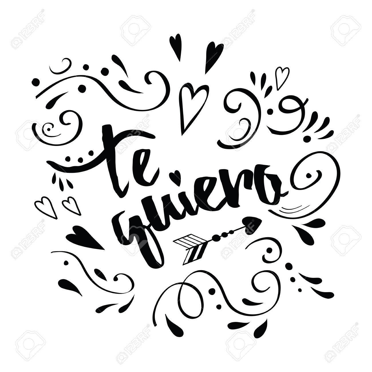 vector manuscrito caligrafía romántica diagonal banner in spanish te