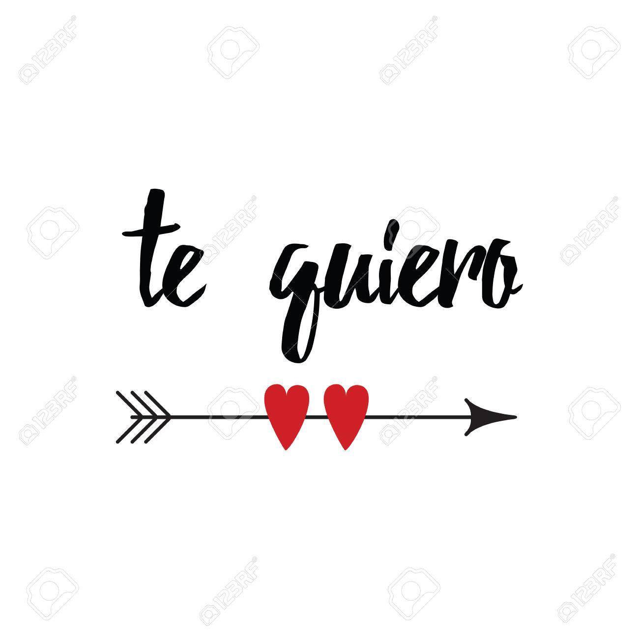 Hand Drawn Inspirational Quote In Spanish Love You Retro